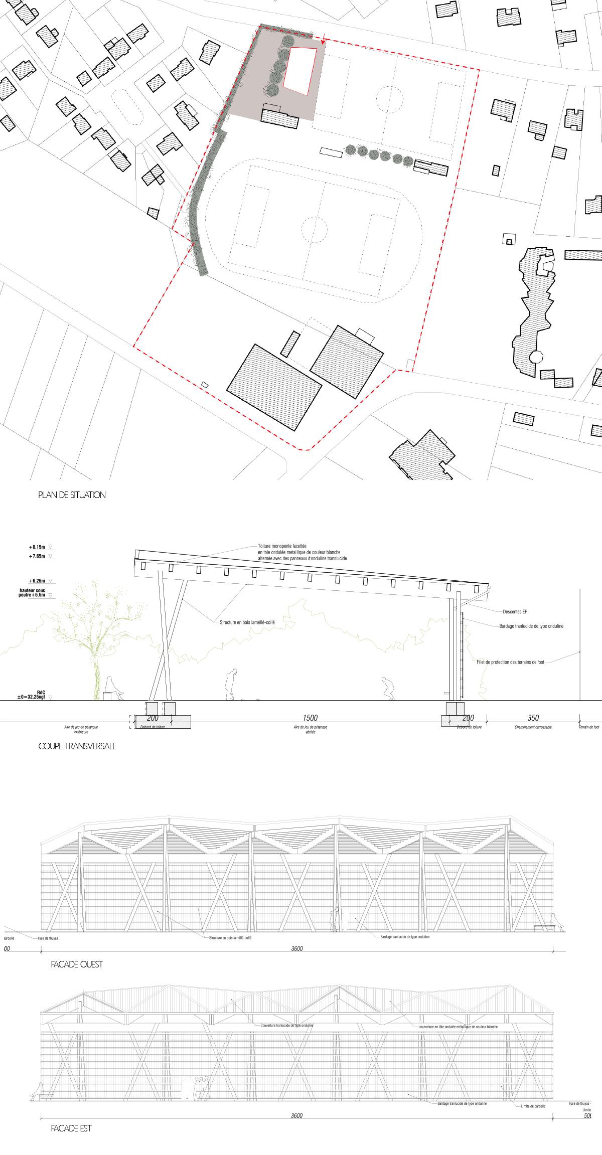 boulodrome missillac laus architectes. Black Bedroom Furniture Sets. Home Design Ideas