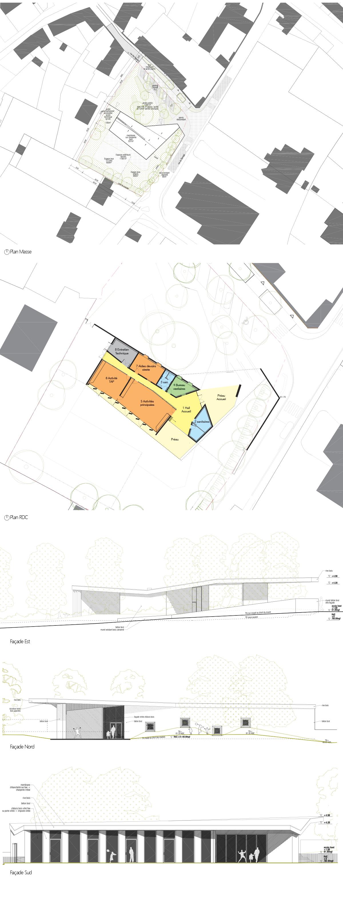 maison de l enfance loyat laus architectes. Black Bedroom Furniture Sets. Home Design Ideas